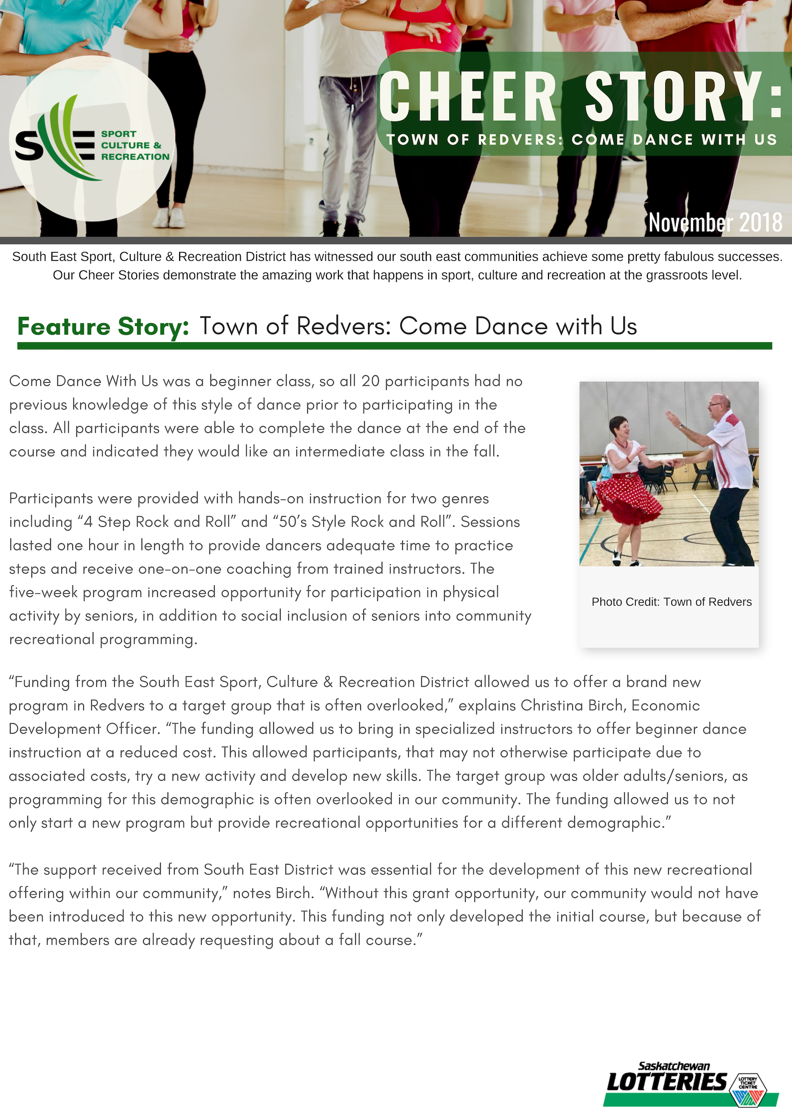 Cheer Story: Redvers Come Dance With Us - Image 1