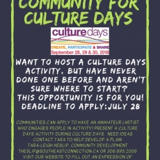 Animate Your Community for Culture Days!