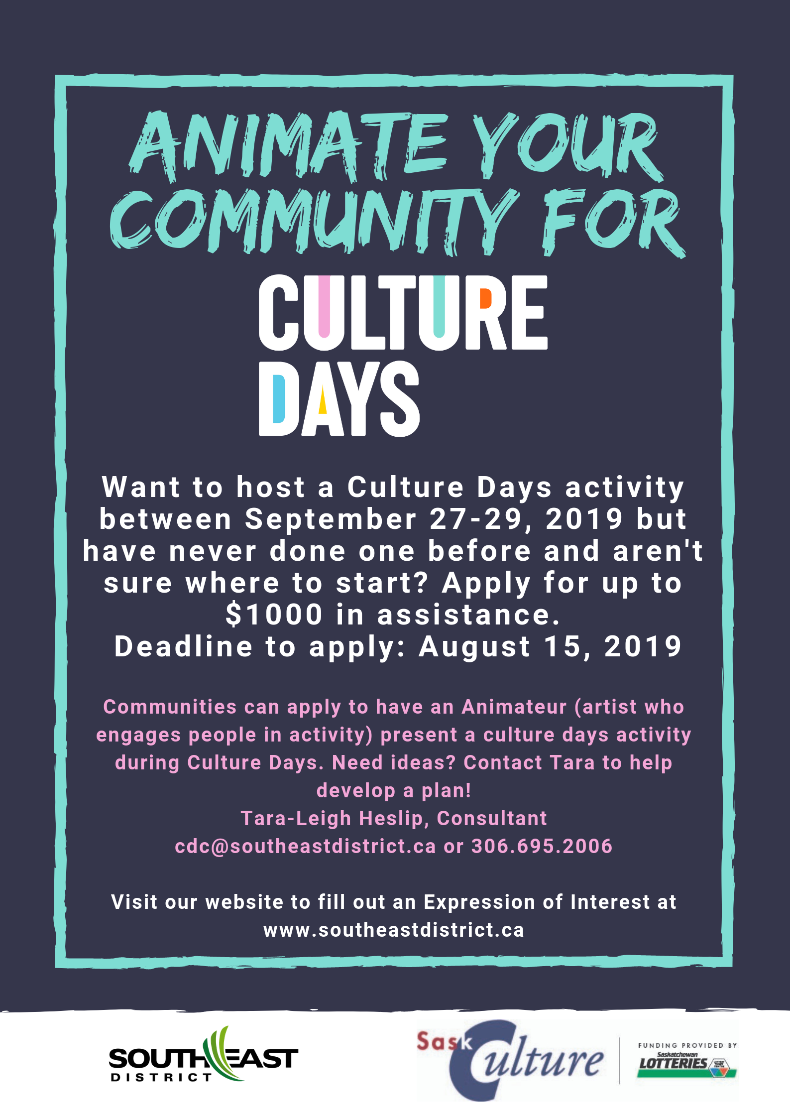 Animate Your Community for Culture Days! - Image 1