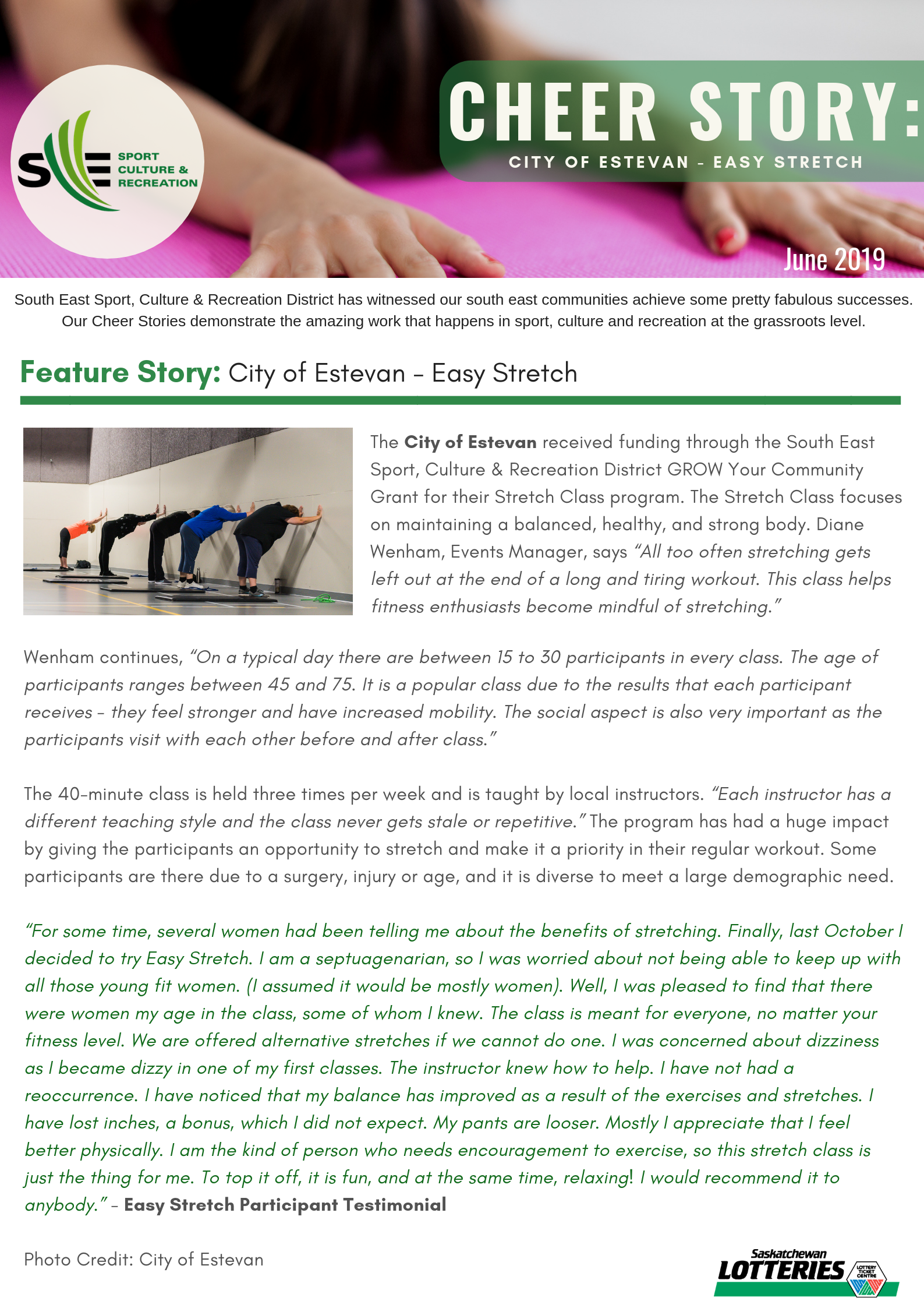 Cheer Story: City of Estevan - Easy Stretch - Image 1
