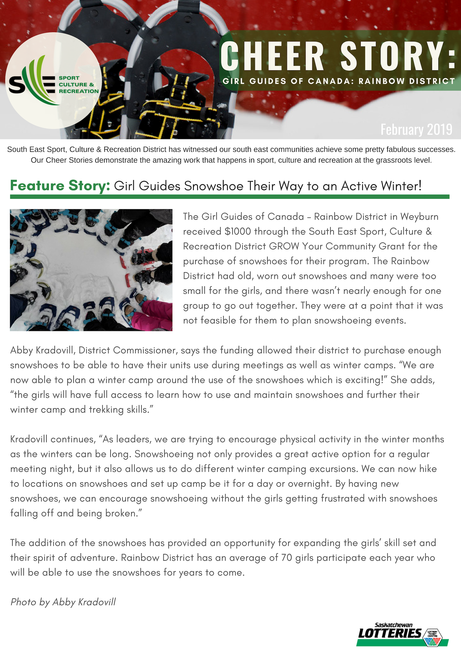 Cheer Story: Girl Guides Snowshoe Their Way to an Active Winter! - Image 1