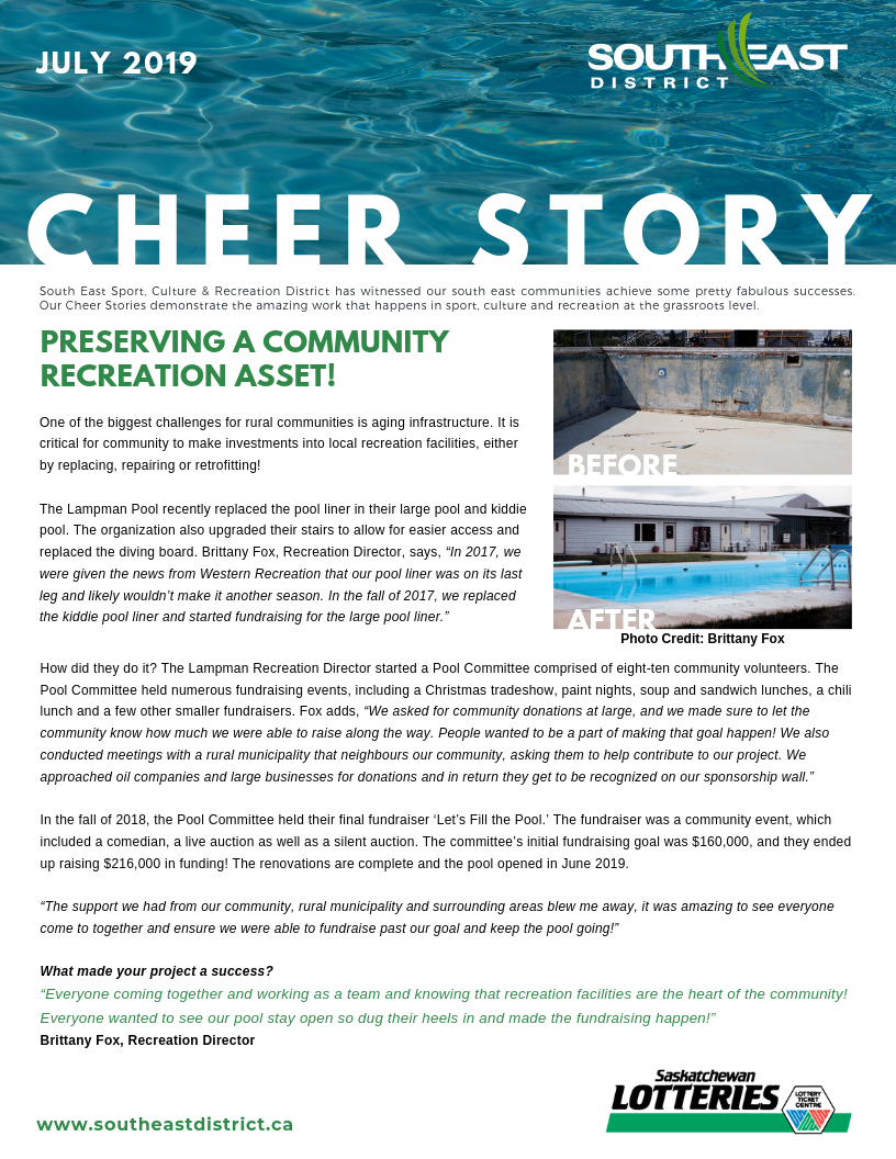 Cheer Story: Preserving a Community Recreation Asset! - Image 1