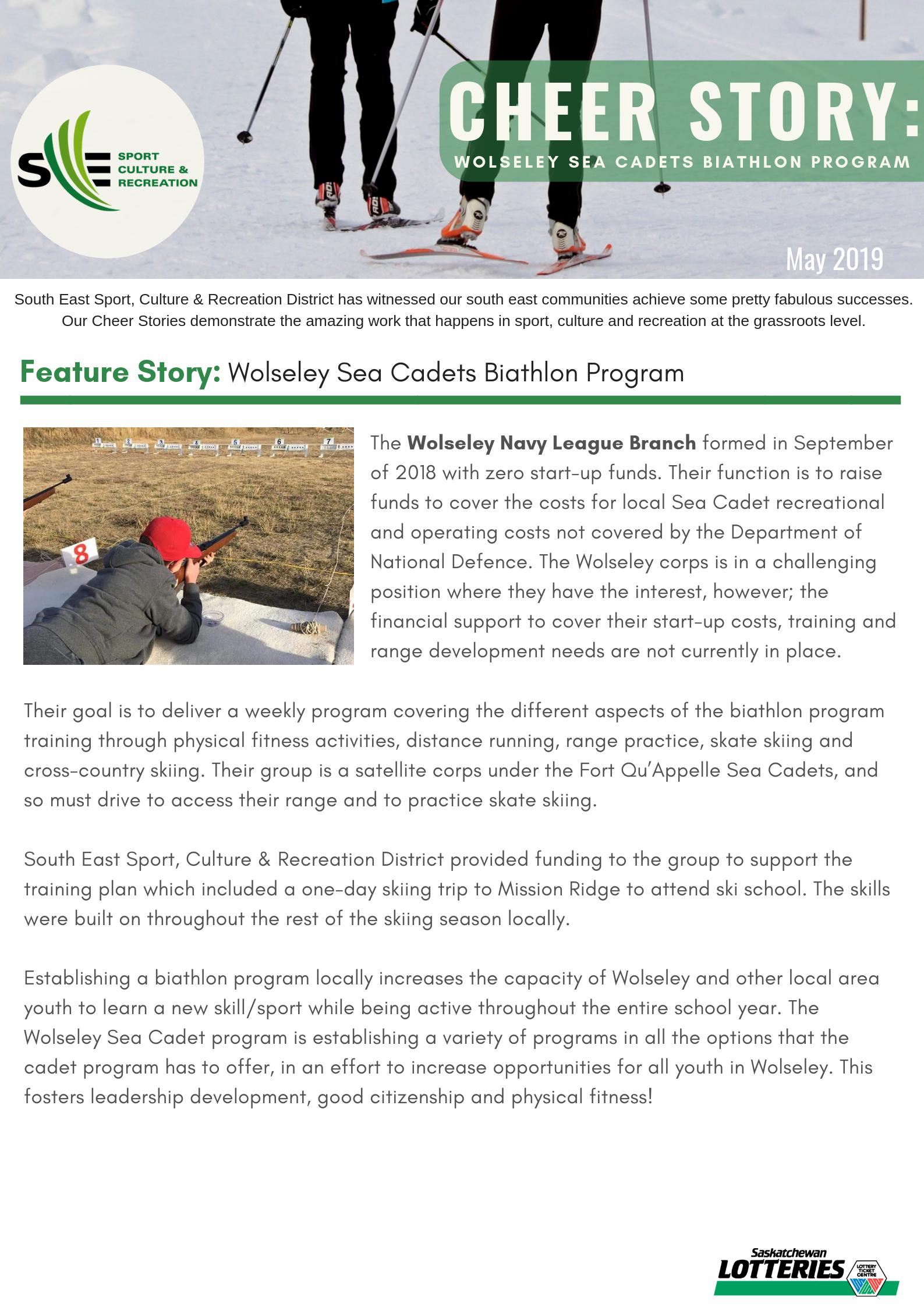 Cheer Story: Wolseley Sea Cadets Biathlon Program - Image 1