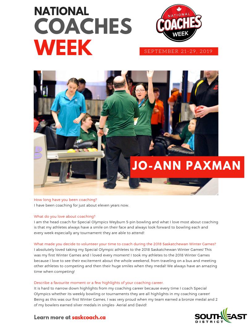 Coaches Week: Jo-Ann Paxman - Image 1