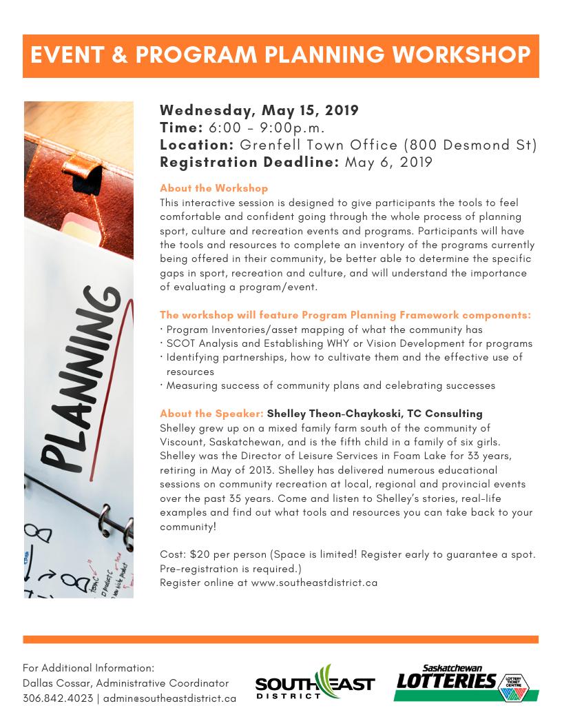 Event & Program Planning Workshop - Image 1