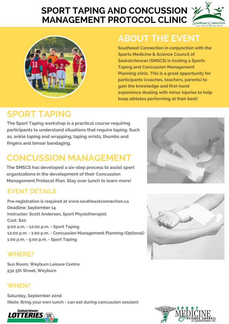 Sport Taping and Concussion Management Protocol Clinic - Image 1