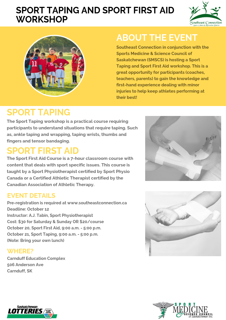 Sport Taping and Sport First Aid Workshop - Image 1