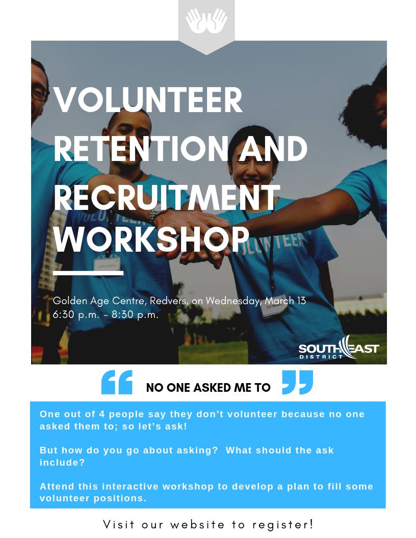 Volunteer Retention and Recruitment Workshop - Image 1