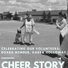 Cheer Story: Celebrating our Volunteers: Board Member, Karen Holloway